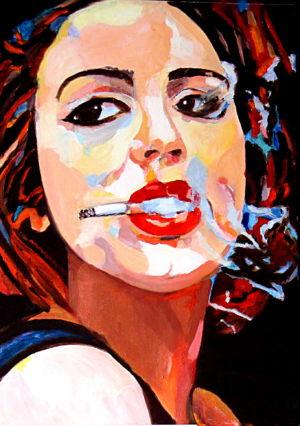A la garçonne (Like a tomboy) 50x70cm oil on canvas