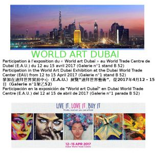 Exhibition in the World Art Dubaï (U.A.E.) 04 2017