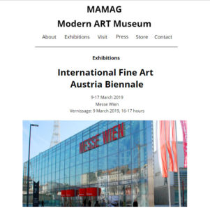International Fine Art Exhibition march 2019 Vienna ( Austria)