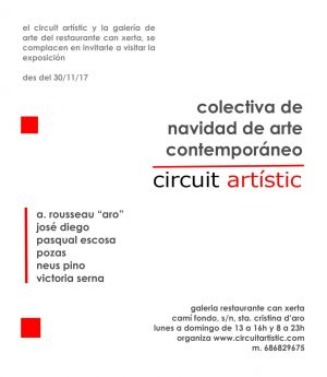 Exhibition  collectiva de Navidad de arte contemporaneo Galery Concerta Barcelona (Spain)  12/2017 01/2018