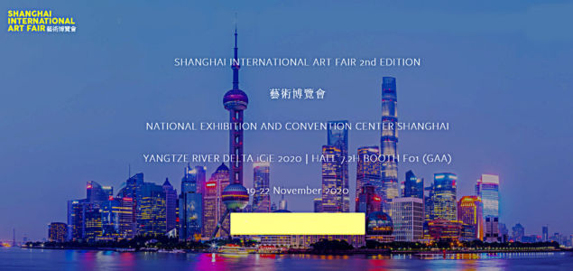 Participation with GAA at the Shanghai International Art fair in Shanghai (China) from November 19 to 22, 2020