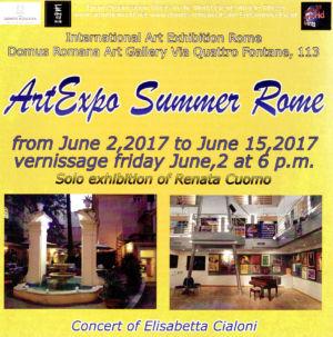 "Brochure ""Art expo summer"" Rome  Italie 2017"