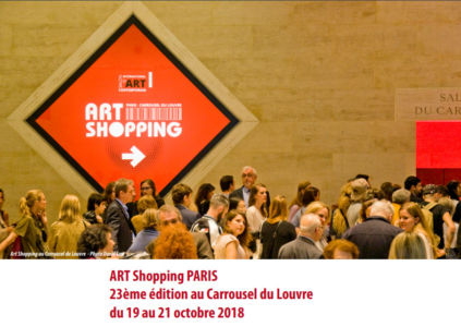 Exhibition Art shopping in Carrousel du Louvre Paris (France) October 2018