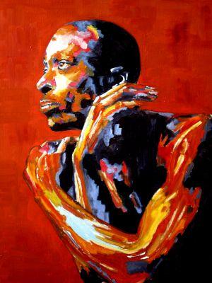 """Black micmac"" 70x80cm oil on canvas"
