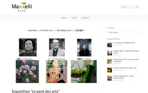 """Parution dans le Blog Maxelli """"Exposition Pont des arts"""" Chengdu 11 2012"""