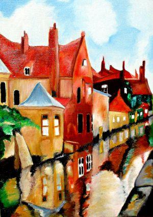 Bruges 30x40cm huile sur toile