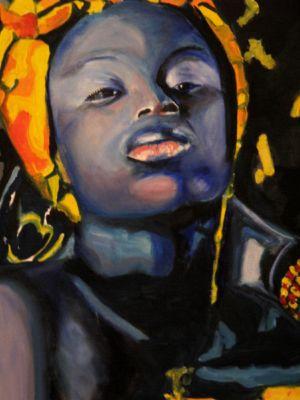 Chérie noire ( black darling) 40x50 cm oil on canvas