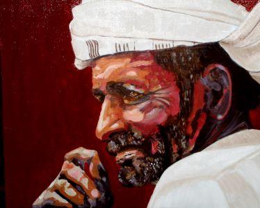 """Cheik"" (The Sheikh) 40x50cm   oil on canvas"