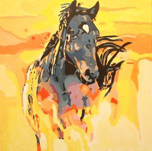 Buveur de rosée ( Dew drinker) 100x100 cm oil on canvas