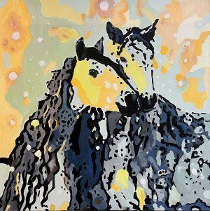Couple anisé (Anised couple)  100x100cm  oil on canvas