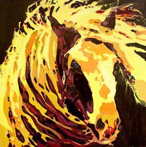 Ivre de vent (Drunk of wind)  100x100cm  oil on canvas