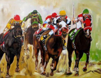 Rush final (Final rush) 40x50cm   oil on canvas