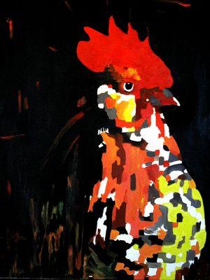 """""""Gallo imperia"""" 80x100cm huile sur toile"""
