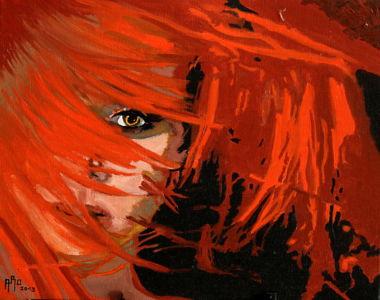 Crinière de feu (Fire mane) 40x50 cm oil on canvas