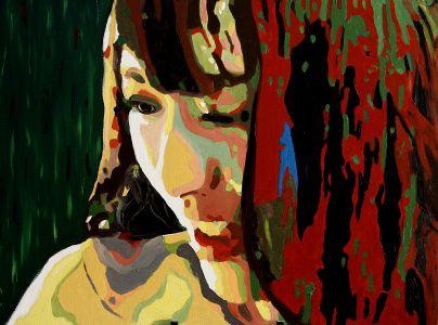 """""""Délices d'après"""" ( After delights)  50x60cm  oil on canvas"""