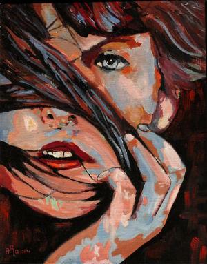 De mèche (wick) 40x50 cm oil on canvas