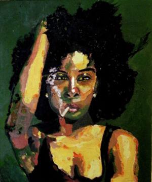 Dilemme (dilemma) 50x60cm oil on canvas