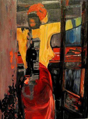 """""""Dis quand reviendras-tu"""" ( When will you come back) 70x90cm   oil on canvas"""