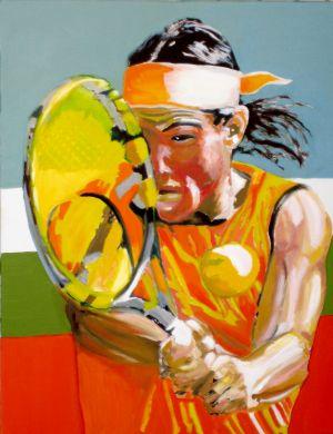 """""""El campéon"""" (The champion) 70x90cm   oil on canvas"""