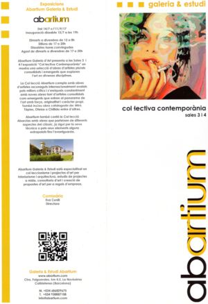 Booklet published on the occasion of the exhibition Collectiva Contemporania Abartium Barcelona 2017