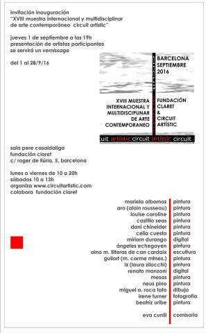 18 éme Muestra Internacional de Arte  Contemporeano - Fundacion Claret Barcelone (Espagne) 09 2016