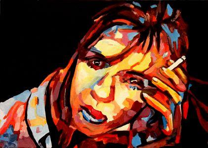 """Divagations"" 50x70cm oil on canvas"