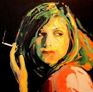 """""""Je t'ignore"""" ( I ignore you) 100x100cm   oil on canvas"""