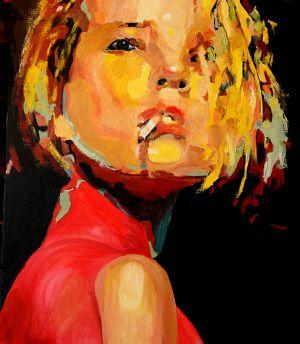 """ La dominatrice""  100x120cm   huile sur toile"