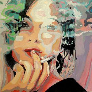 """""""Méditation vaporeuse"""" (Misty meditation) 80x80cm  oil on canvas"""