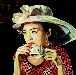 """""""Noblesse oblige""""100x100cm  oil on canvas"""