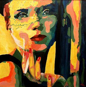 """Pourquoi "" (Why?) 100x100cm  oil on canvas"