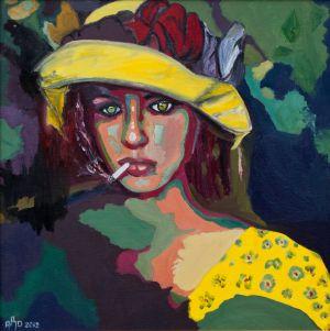 """Princesse sylvestre'  (Sylvan princess) 80x80cm  oil on canvas"