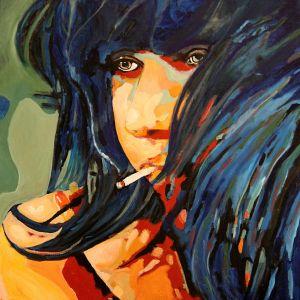 """Que vais-je faire"" (What am I going to do?) 80X80cm  oil on canvas"