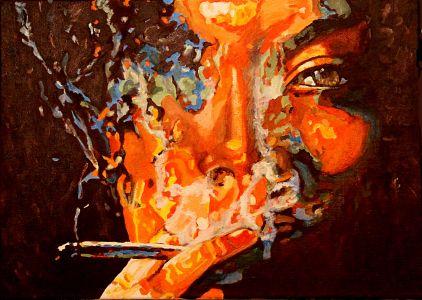 Smoke eye 50x70cm oil on canvas