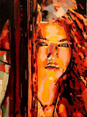 """Tu me manques"" (Miss me) 53x73 cm  oil on canvas"