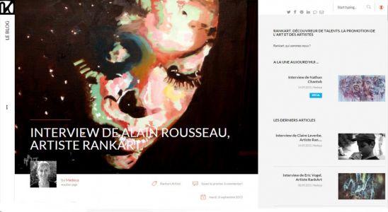 Interview d'Alain Rousseau pour le prix MyRankart 2015