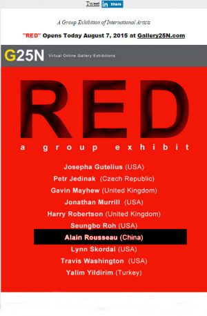 Exhibition on line in Galery 25-N-RED-New-York (USA) 08 2015