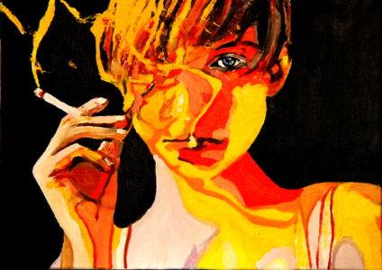 Je l'aurais un jour ( I would have him one day) 40x50cm oil on canvas