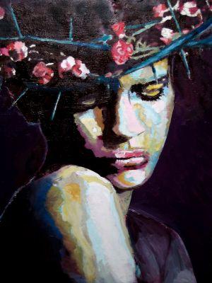 """La Christ"" (The christ girl) 50x60cm   oil on canvas"