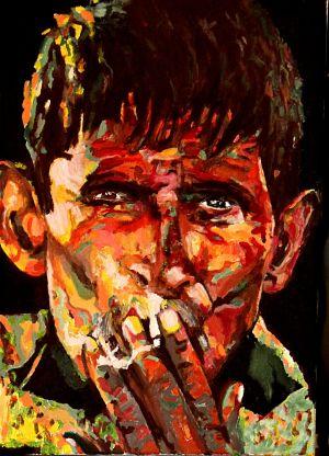 """""""La dernière"""" (The last one) 50x70cm oil on canvas"""