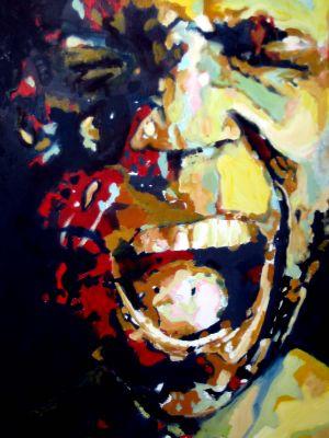 """""""La douleur"""" ( The pain) 70x80cm   oil on canvas"""