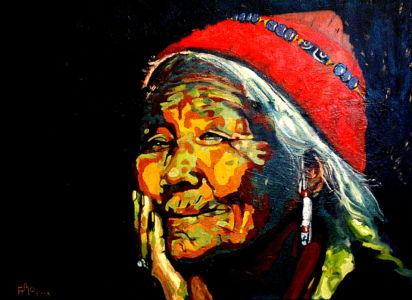 La grand mère du Plateau (Plateau's grand mother ) 60x80 cm oil on canvas
