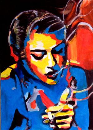 La pudeur (谦逊) 35x70 cm 亚麻油画
