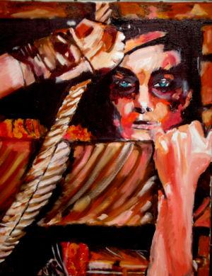 L'antichambre (the antechamber) 40x60 cm oil on canvas
