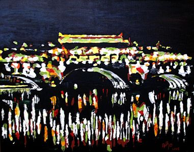 Le Pont He Jiangting (He jiang ting bridge ) 80x100cm  oil on canvas