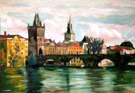 Le pont de la Tour (The bridge of the tower) 80x100cm  oil on canvas