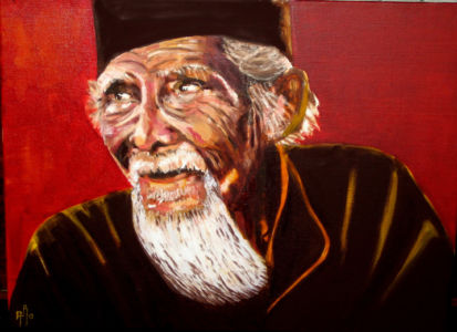 Le vieux sage (the old wise) 40x50 cm oil on  canvas