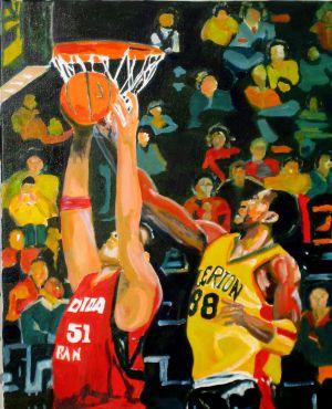 """Marqué"" ( One up) 50x60cm  oil on canvas"