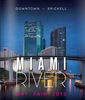 Brochure de l'exposition à la Miami River Art Fair  Miami (USA) 12 2015