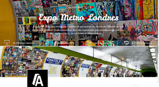 Participation at LONDON METRO exhibition from 1st to 15th December 2019 in London (GB)
